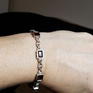 Jewelry - Sterling silver and smoky topaz bracelet